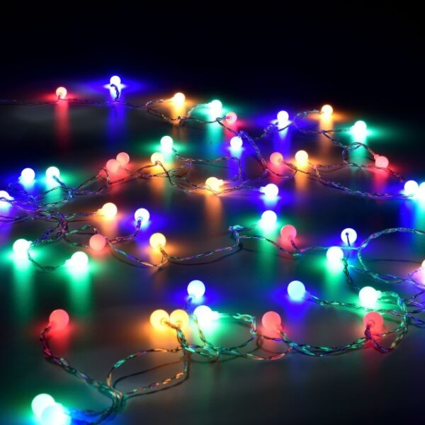 Instalatie ghirlanda 40 globulete multicolore